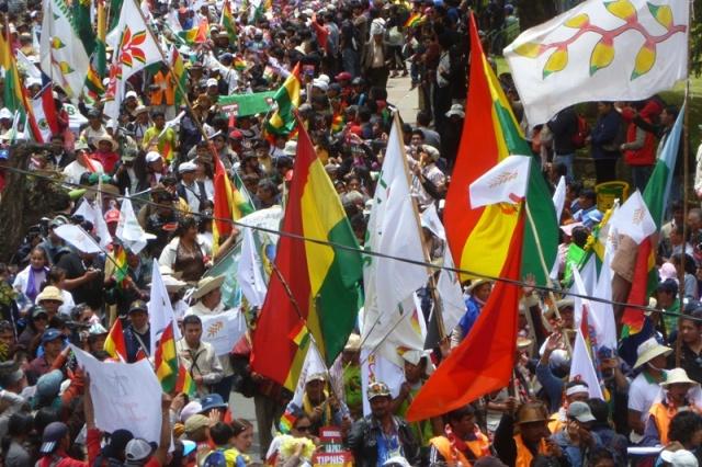 TIPNIS march arrives in La Paz 19 October (credit: Dario Kenner)
