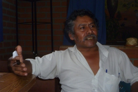 Cesar Aguilar, President of Council of Guaraní Captianes, Department of Tarija (credit: Dario Kenner)