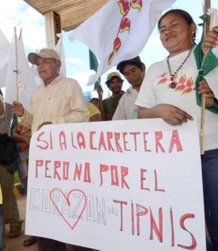 Supporting the road, but not through heart of TIPNIS (Credit: El Diario)
