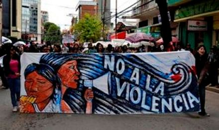 Protests against violence against women in Bolivia (credit: Stephanie Weiss)